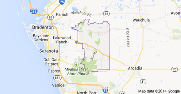 Manatee County Florida Zip Code Map